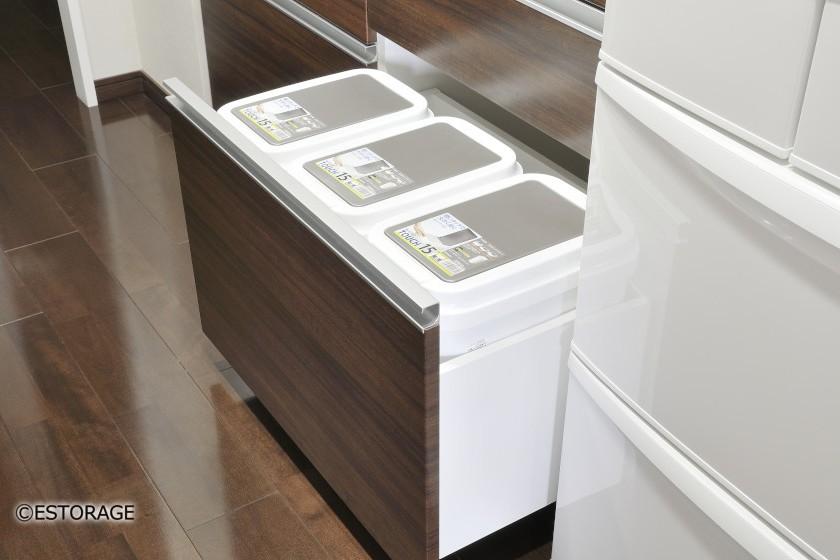 限られたスペースを最大限に生かしたキッチン収納