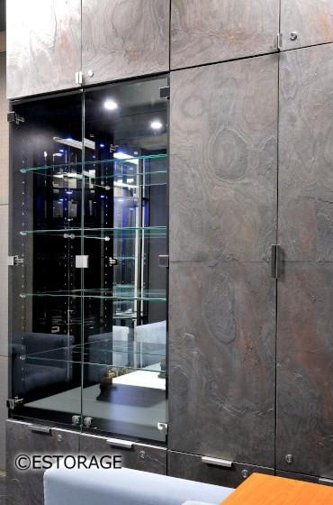 天然石とガラスの異素材デザイン
