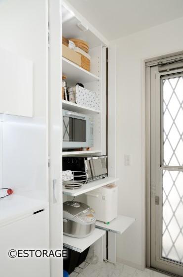 生活感を隠すキッチン収納