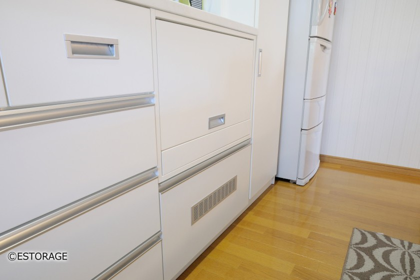 調理家電の収納スペース