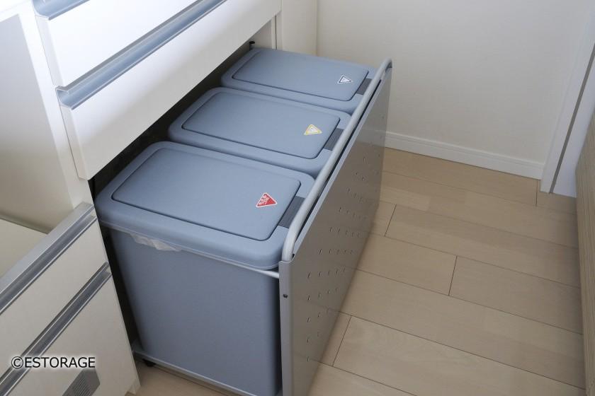 3つのゴミ箱を収納