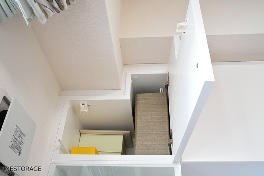 デットスペースを収納スペースとして有効活用