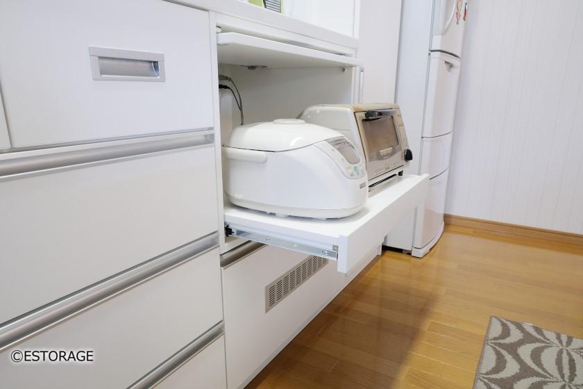 炊飯器とトースターの収納