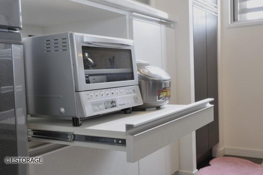 オーダーならではのキッチン収納