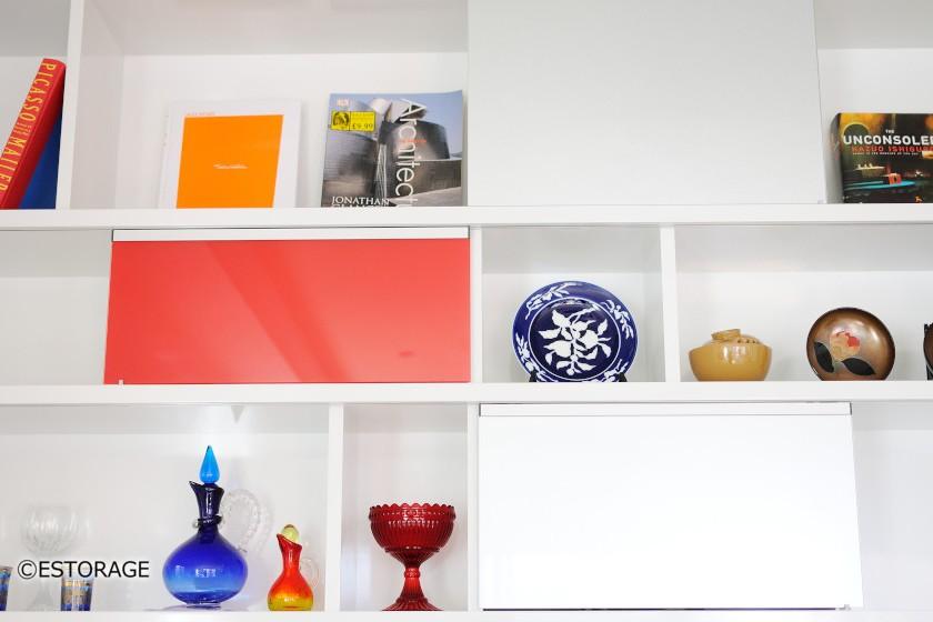 コレクションを飾るためのディスプレイスペース。