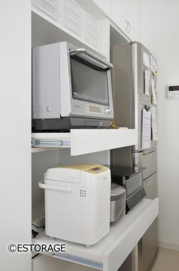機能的な調理家電の収納スペース