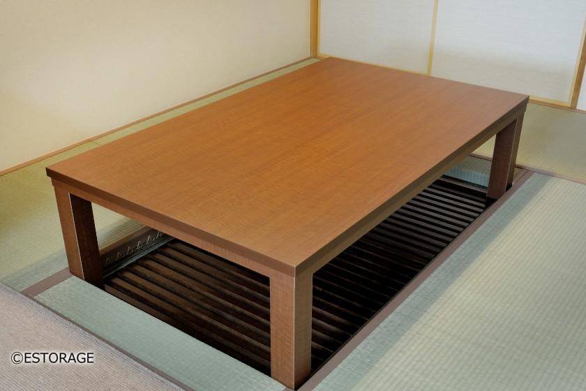 暮らし方に合せて作り直した堀座卓