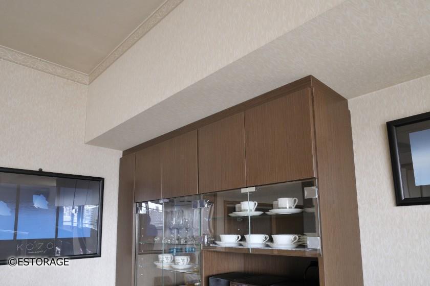 デザインと収納量を兼ね備えたダイニング壁面収納