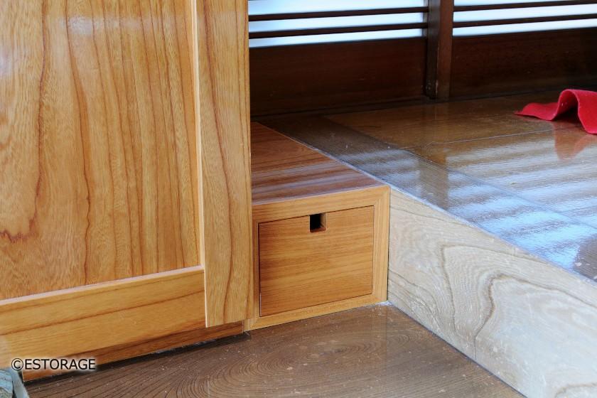 日本住宅に合わせたけやきの玄関収納
