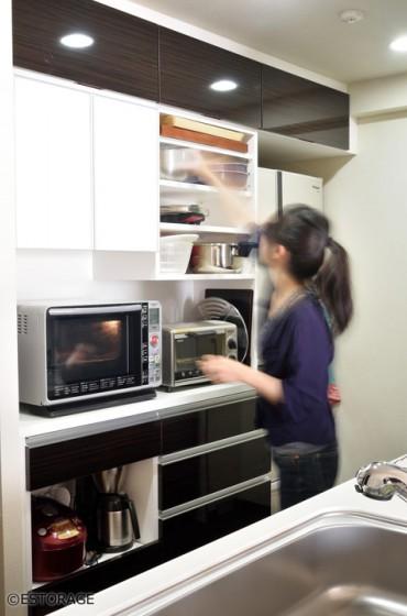 キッチン壁面収納オーダー家具-2