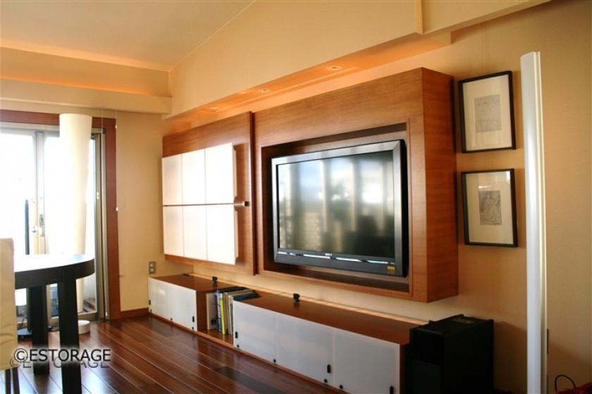 ホテルのようなリビング壁面収納3