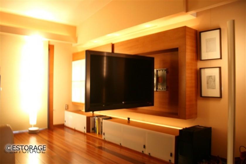 ホテルのようなリビング壁面収納7