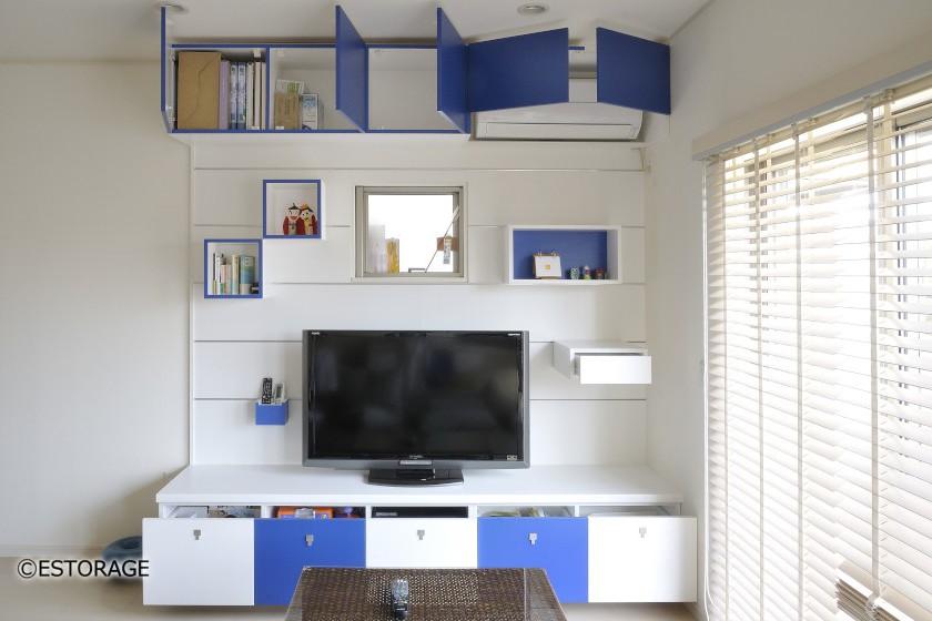 デザイン性重視の壁面収納