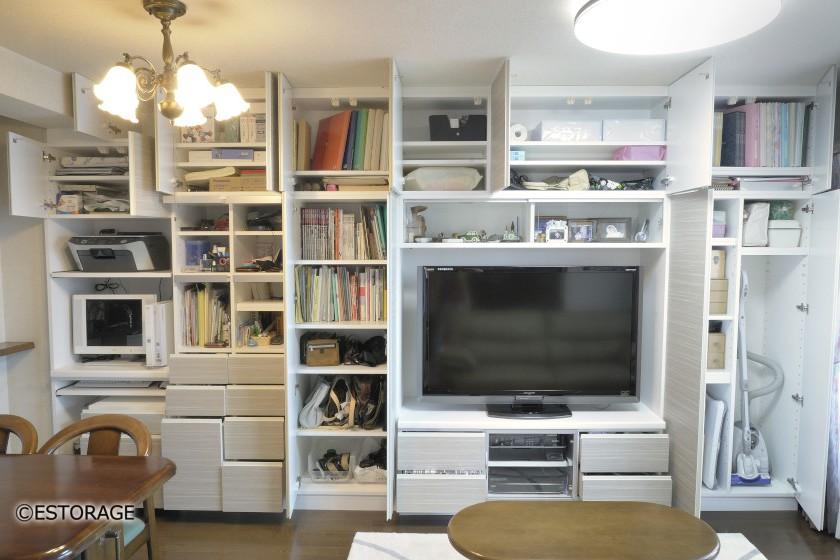 リビング壁面収納-専用スペース-1