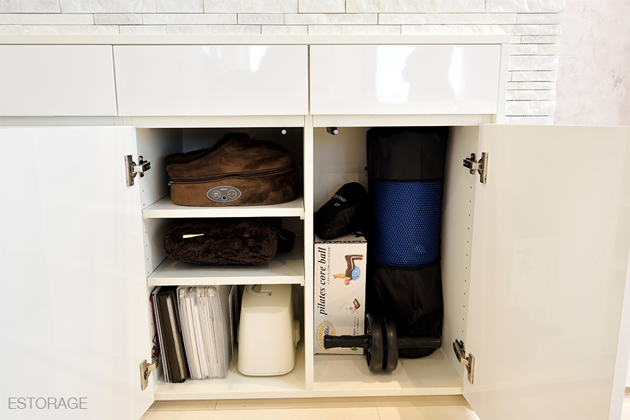 エクササイズ用品の収納スペース