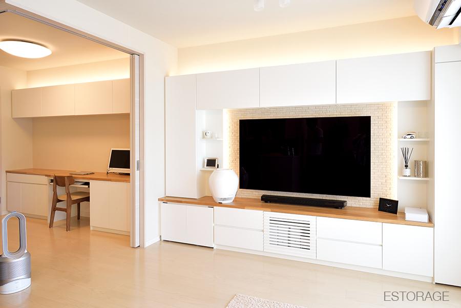 自宅に快適なデスクスペースを実現したオーダー家具。
