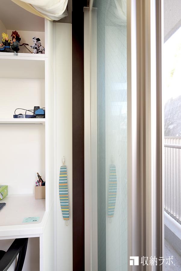 それぞれのお部屋用に、カーテンレールを確保。