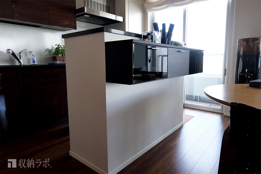 私たちが欲しかったイメージ通りのキッチンカウンター収納。