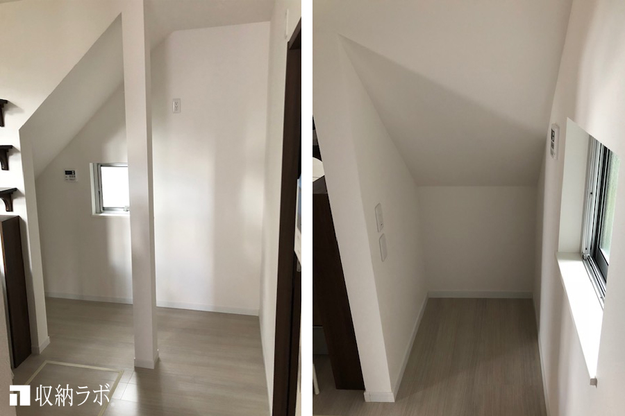 新築の戸建てに用意されていた、階段下のフリースペース