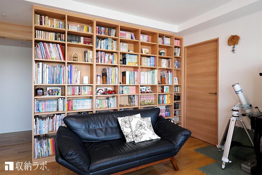 7年前にオーダーメイドした本棚を、暮らしの変化に合わせて増設。