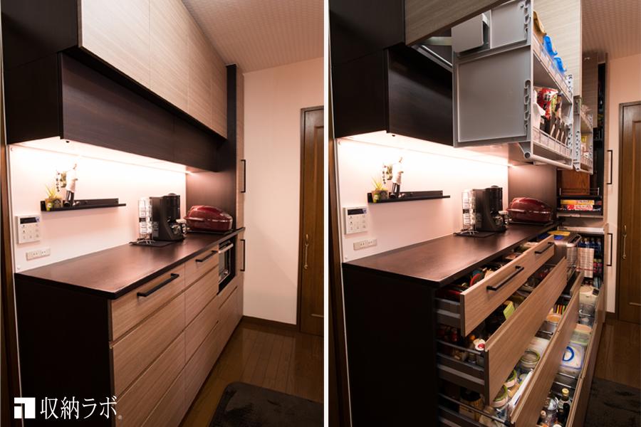 収納ラボのオーダーメイドのキッチン収納