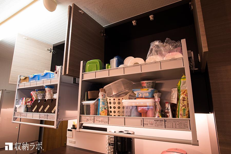 リフター付きのオーダーメイドのキッチン収納