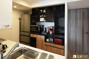 快適な新しい暮らしのために、最優先に考えたオーダーメイドの食器棚。