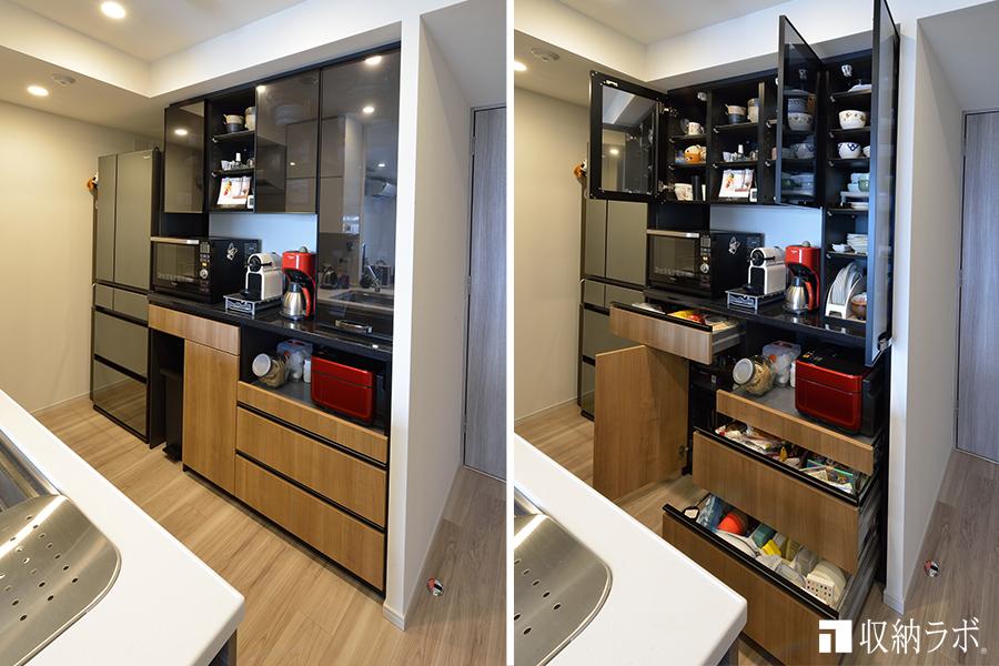 デザイン性と機能性を一つにしたオーダーメイドの食器棚