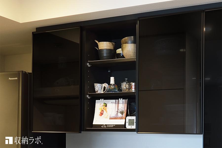 オープンスペースを作った食器棚