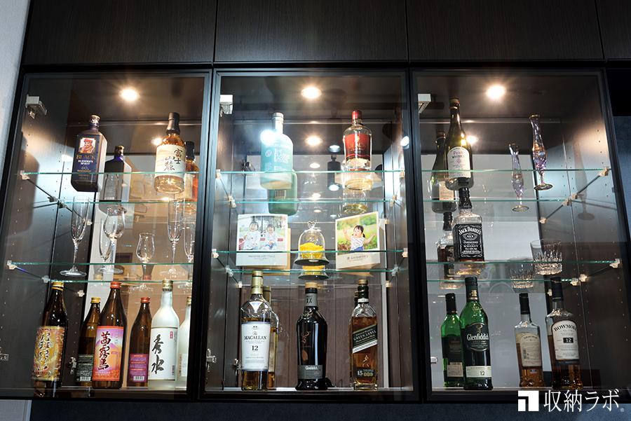 お気に入りのお酒を飾る飾り棚