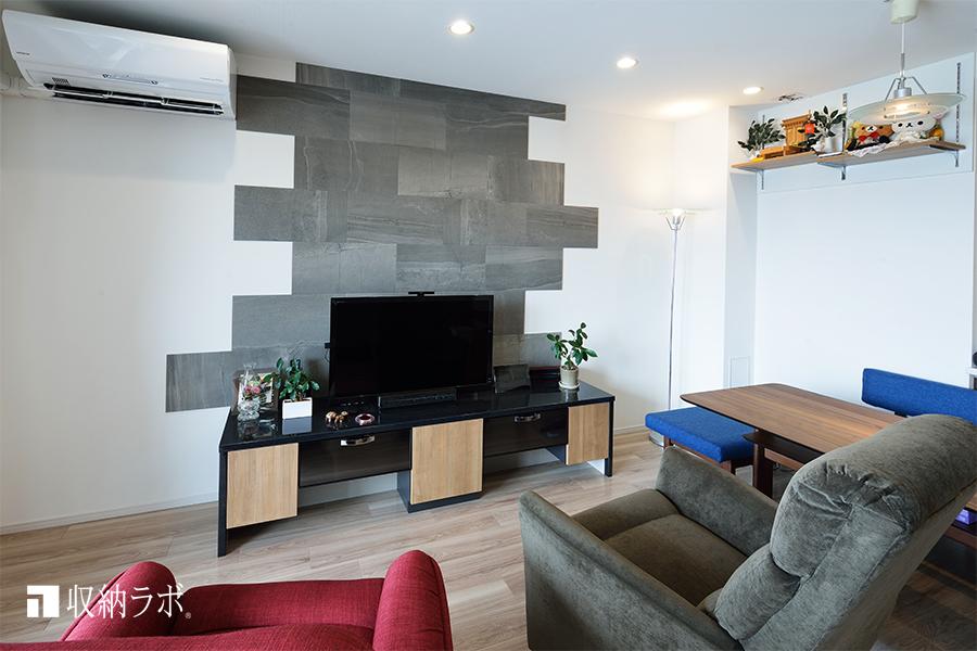 開放感のあるお部屋とインテリアの統一感を実現したリビング収納。