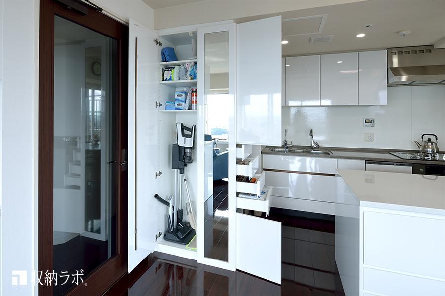 キッチンスペースに作った多目的収納4