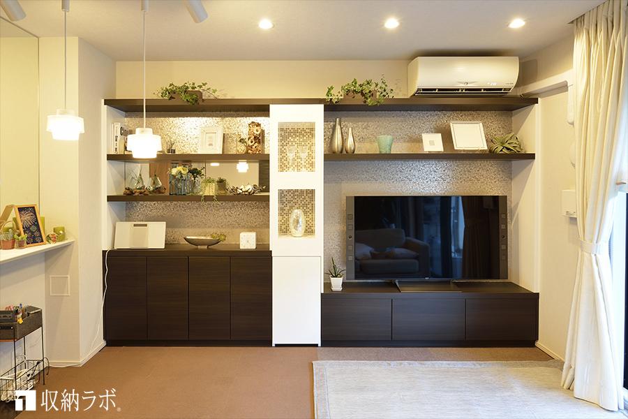 モデルルームで見た壁面収納のイメージをカタチに。