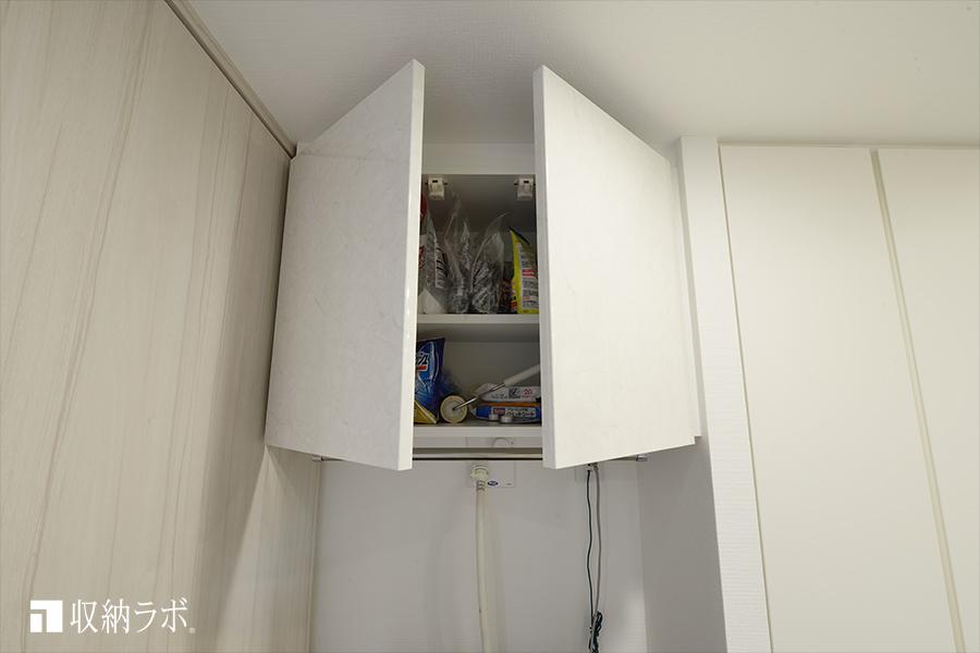 デットスペースを活用するための吊り戸棚