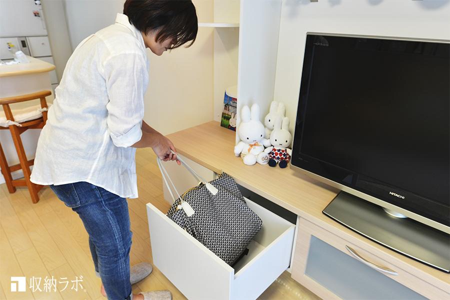 日常的に使うバッグをすっきり収納
