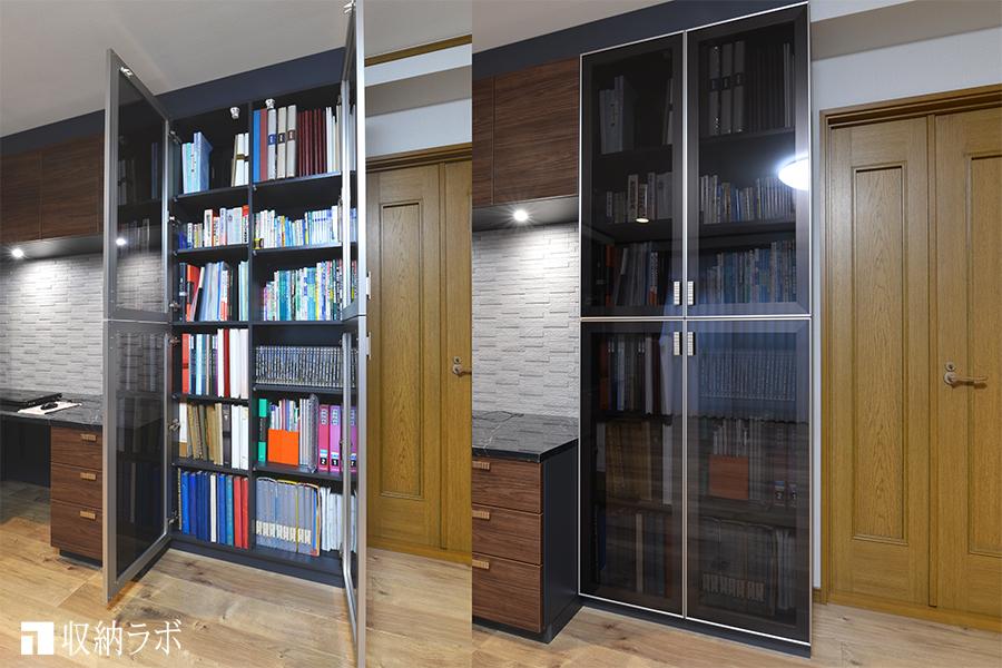 収納量を確保した書棚