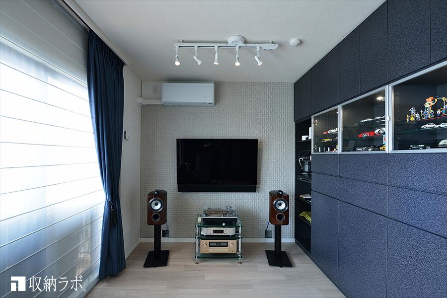 音響効果にこだわって趣味を楽しむスペースを実現。