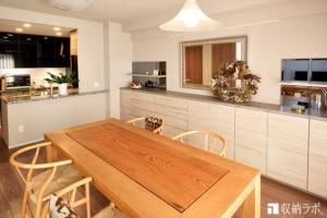 一戸建てからマンションへ、コンパクトな暮らしを快適にしたオーダー家具。