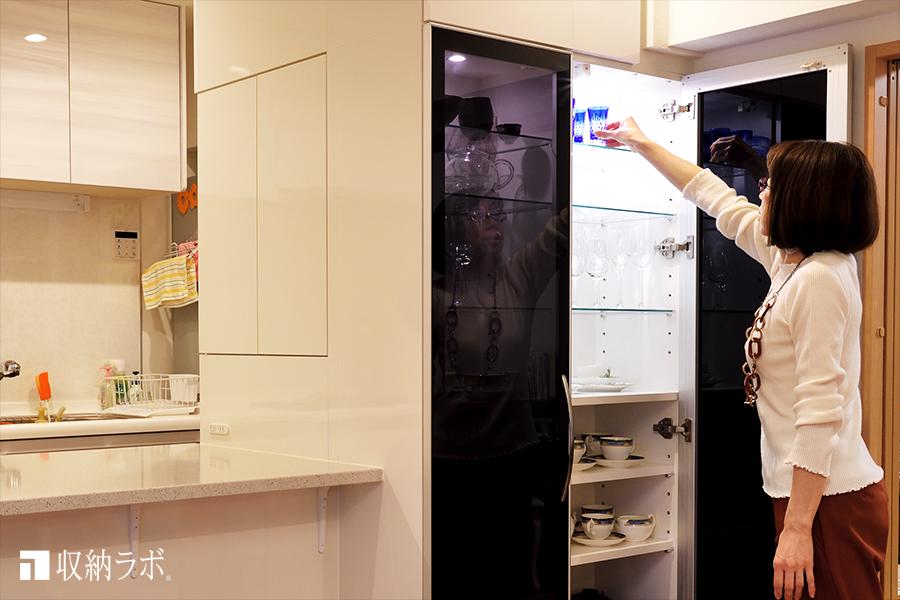 オーダーメイドの食器棚で、理想のくらしを実現。