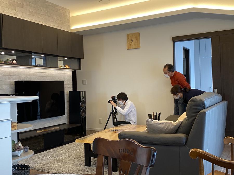 オーダー家具の撮影の様子