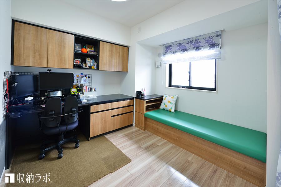 オンとオフのどちらも快適なワークスペースを実現したオーダー家具。
