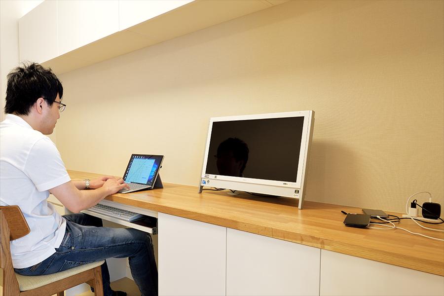 自宅にワークスペースを実現したオーダー家具