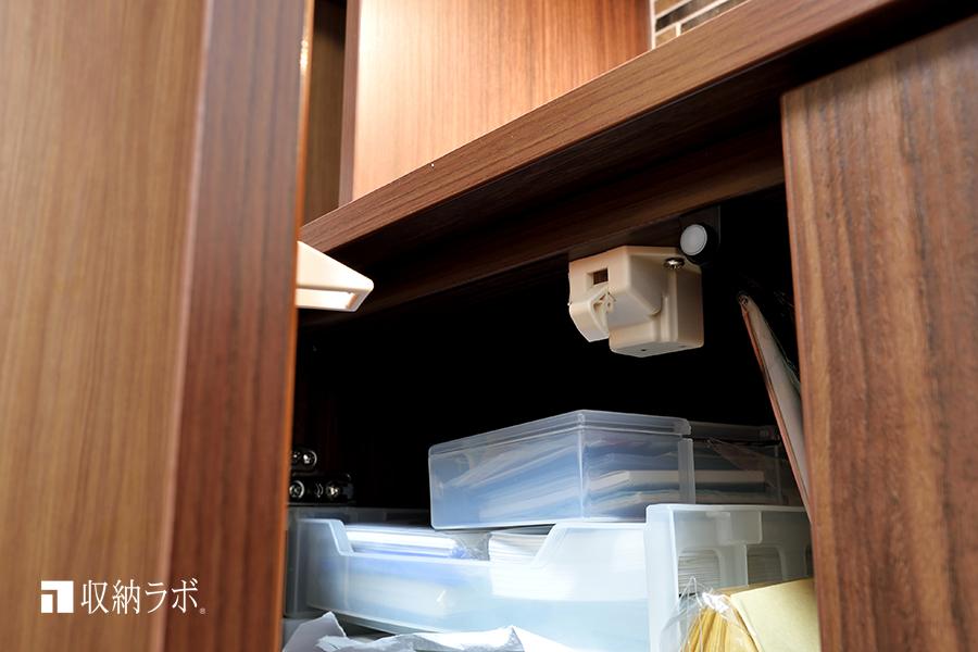 標準装備される耐震ラッチ