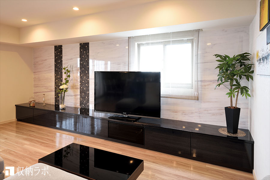 モデルルームのイメージを参考にデザインしたオーダー家具。
