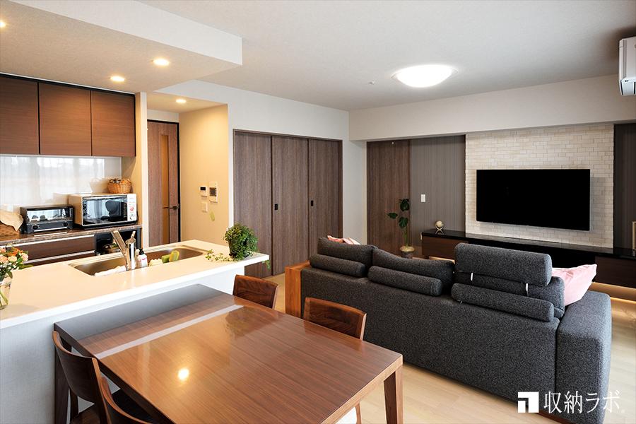 オーダー家具でおしゃれなインテリアと、すっきり暮らせる住まいを実現。