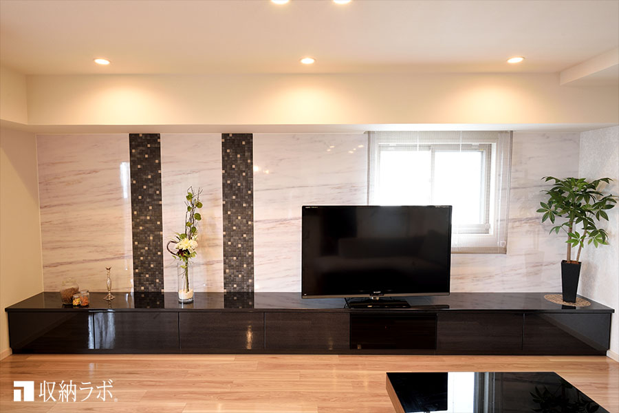 デザインと機能的な収納を叶えたオーダー家具。