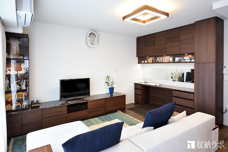 ホテルのようにおしゃれな、お部屋で暮らす夢を叶えた、4つのオーダー家具。