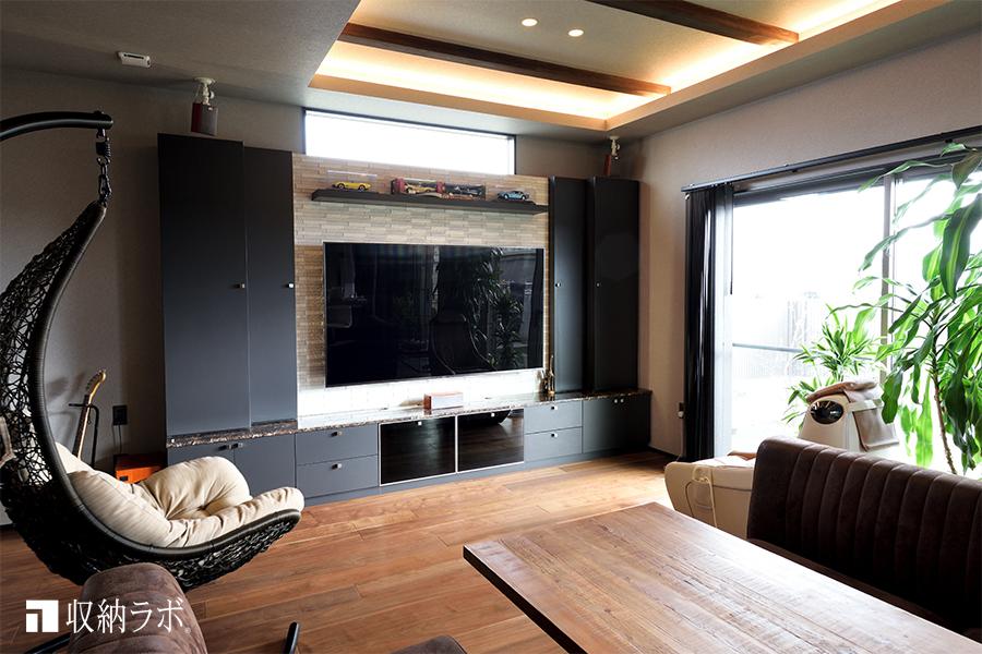 趣味を楽しむ理想の住空間を叶えたオーダー家具。
