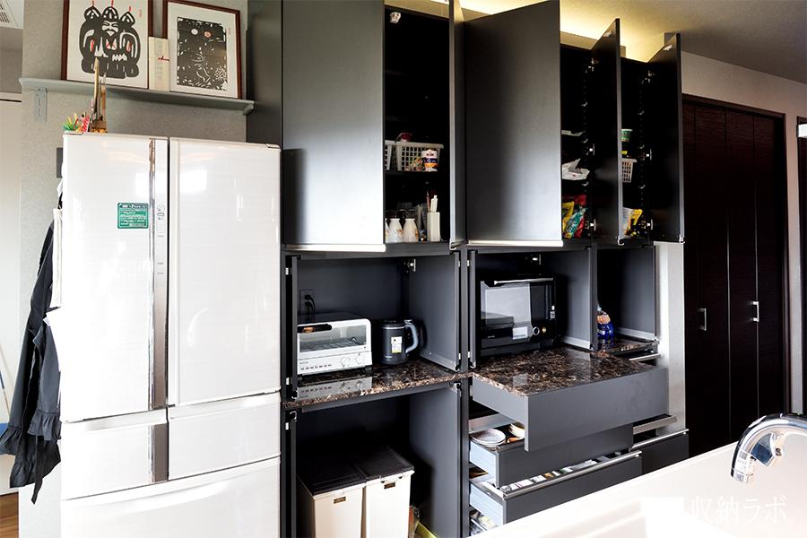 食器棚のオープンカット