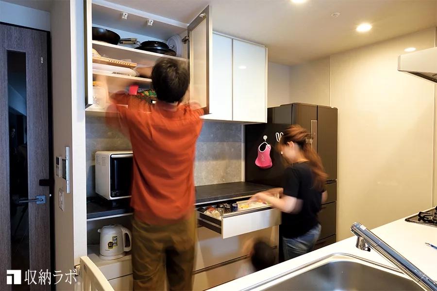 家族の身長差を考慮した優しい食器棚